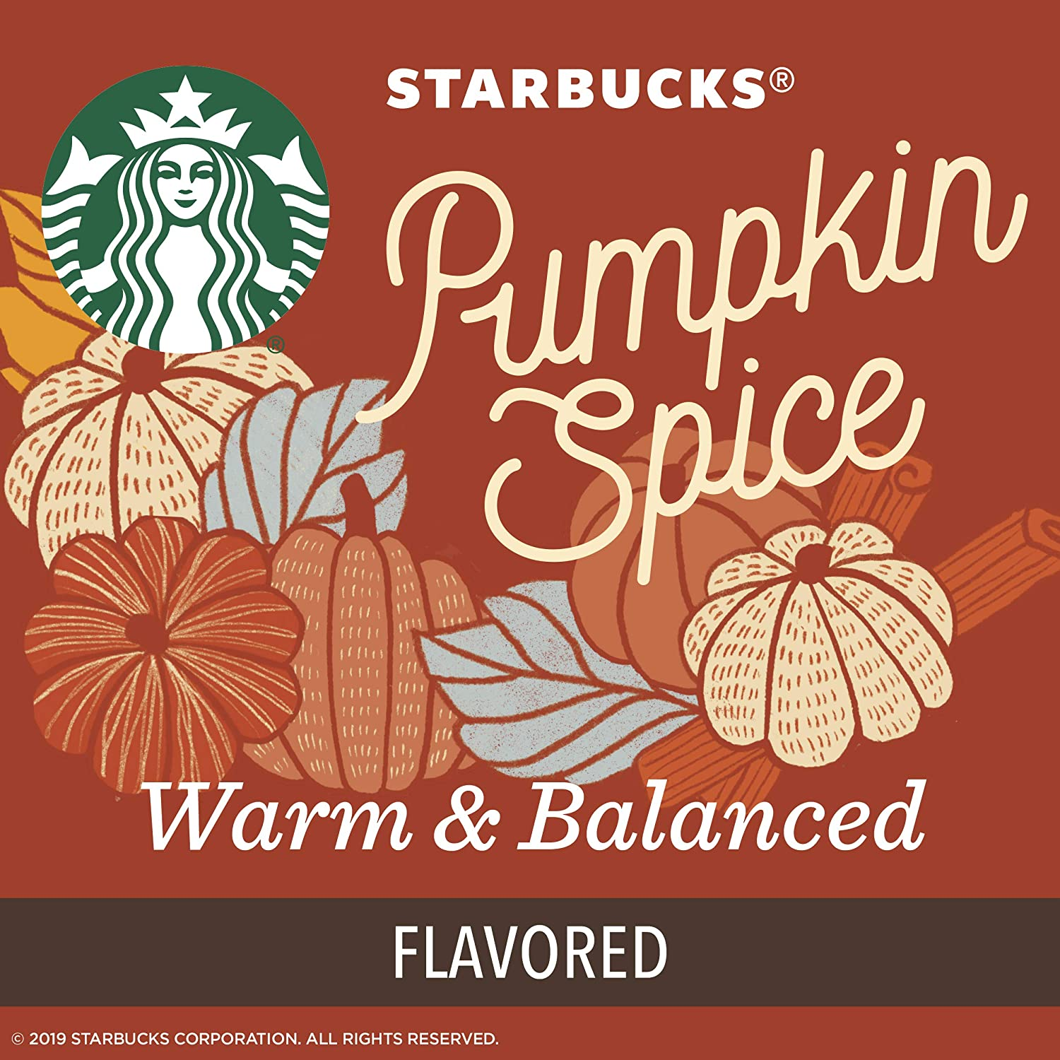 Starbucks Pumpkin Spice Flavored Single-Cup Coffee for Keurig Brewers, Box of 32 K-Cup Pods
