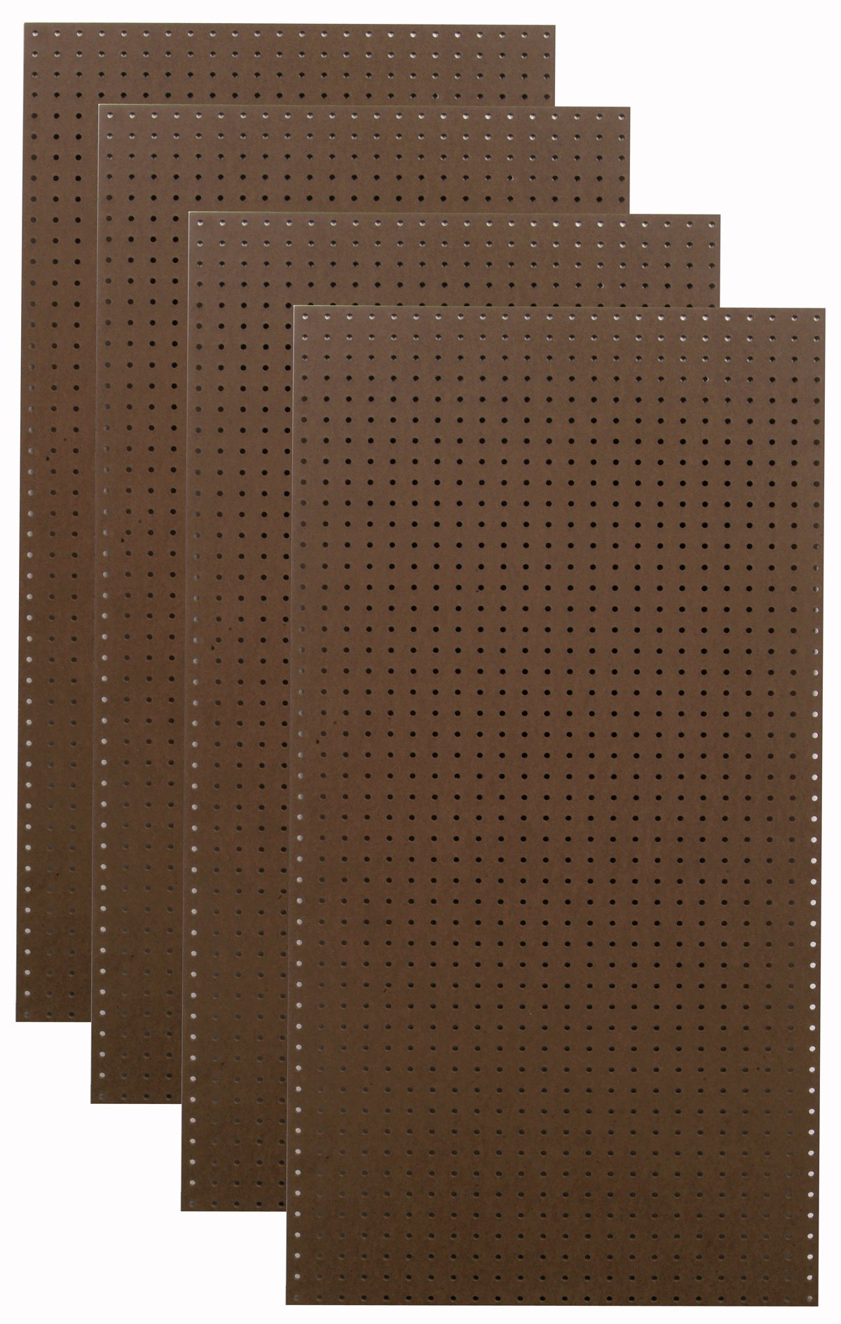 Tempered Wood Pegboard TPB-4BR 24-Inch W x 48-Inch H x 1/4-Inch D Heavy Duty Commercial Grade Round Hole Pegboards, Brown by Tempered Wood Pegboard (Image #1)