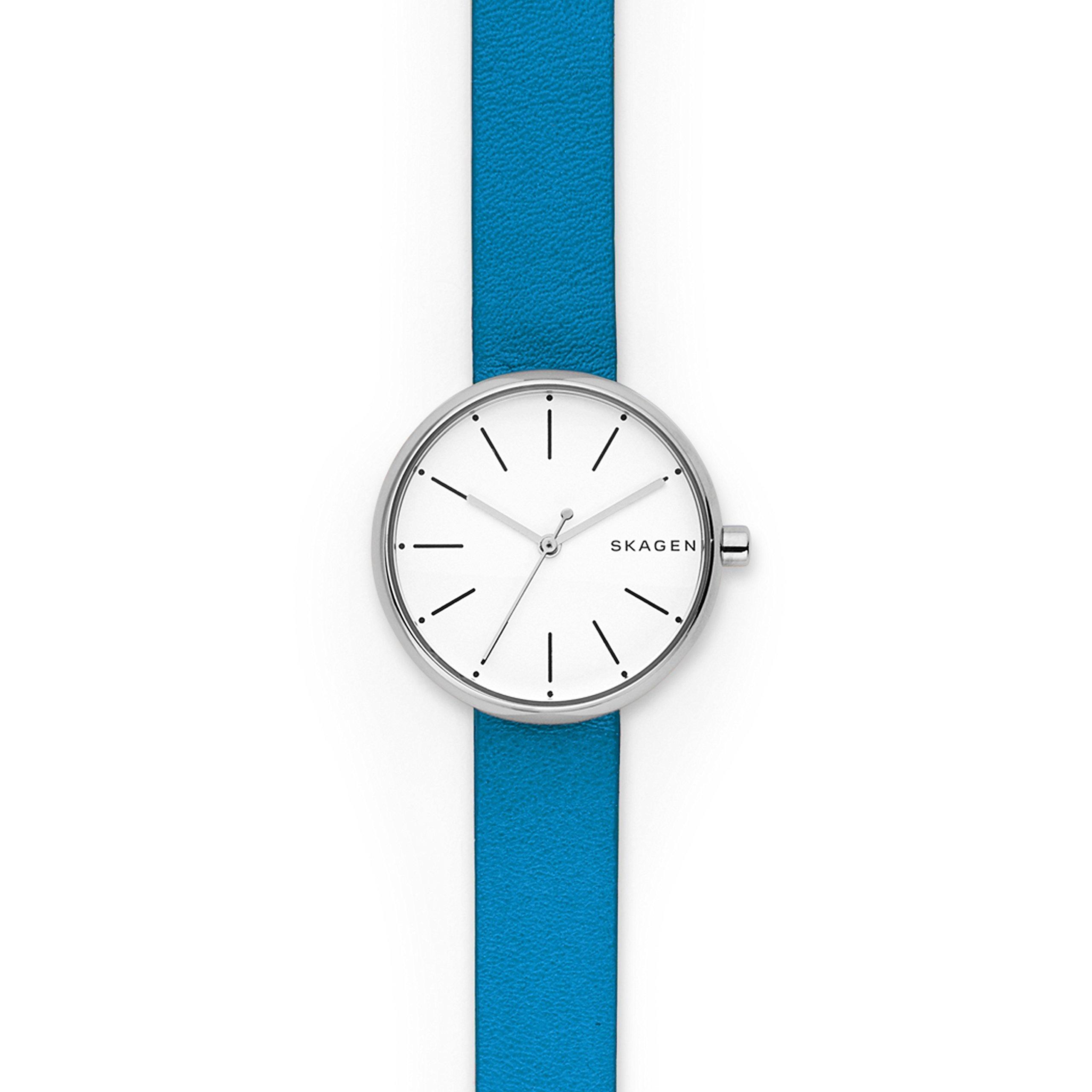 Skagen  Women's  SKW2597 Signatur Blue Leather Watch