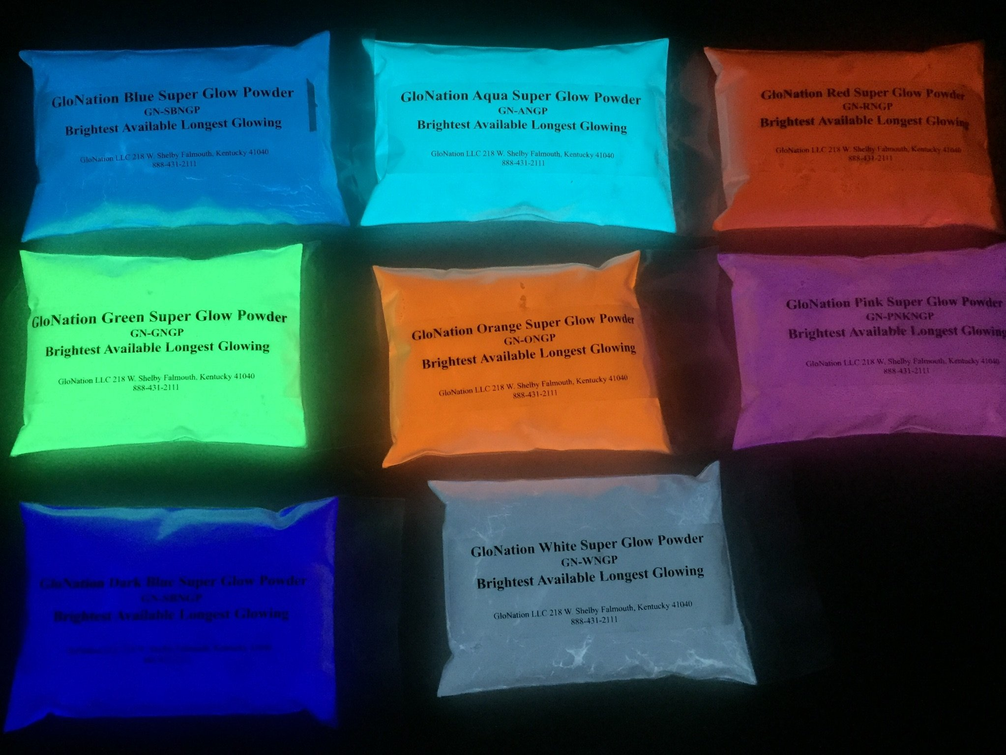 Super Phos Glow Powder Multi Pack - 6 OZ