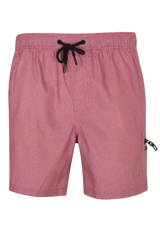 Dissident Mens Swim Shorts Vittorino - Claret Red/White Fine Stripe - XX Large