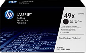 HP 49X (Q5949XD) Black High Yield Original Laserjet Toner Cartridges Discontinued by Manufacturer
