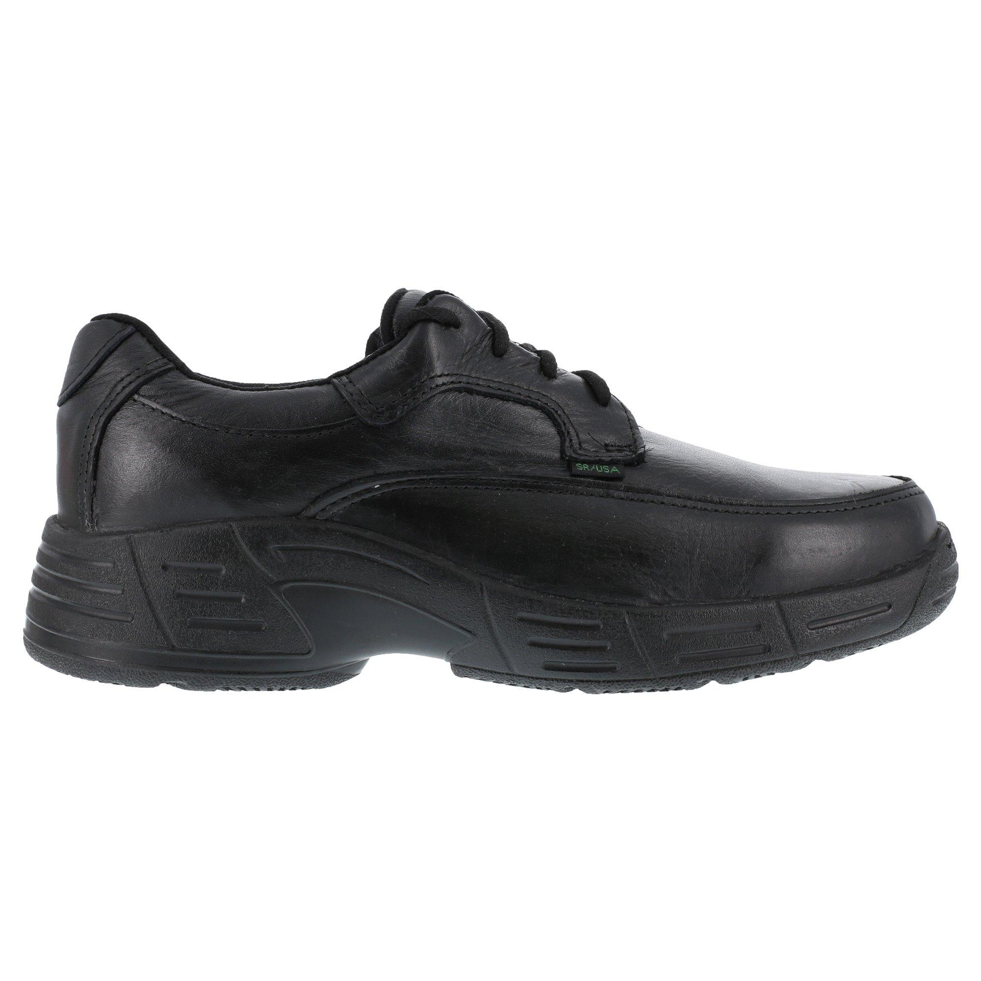 Florsheim Womens Black Leather Work Shoes Postal Classic Oxfords 11.5 M