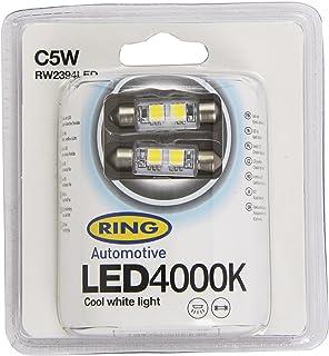 239 RW2396LED 2x Ring C5W 12v 6000K Ice white LED Light Bulbs
