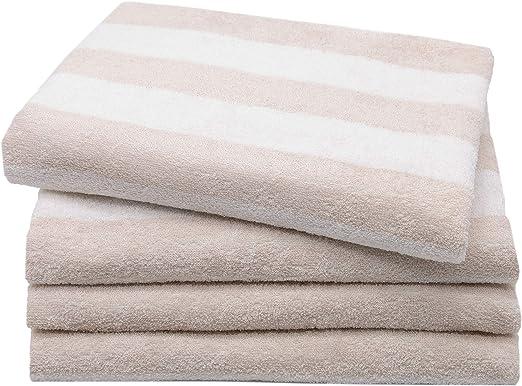 ZOLLNER Juego de 4 Toallas de Lavabo Grandes, 100% algodón, 50x100 ...