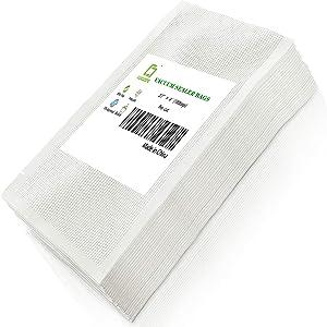 CANLENPK 2.7×4 Inch Mini Vacuum Sealer Bags,Small Precut Food Storage Bag,Seal Meal Snack Fruit Nut,Boil Steam Heat Freeze,Commercial Grade Heavy Duty Sealable Bags(100PCS)