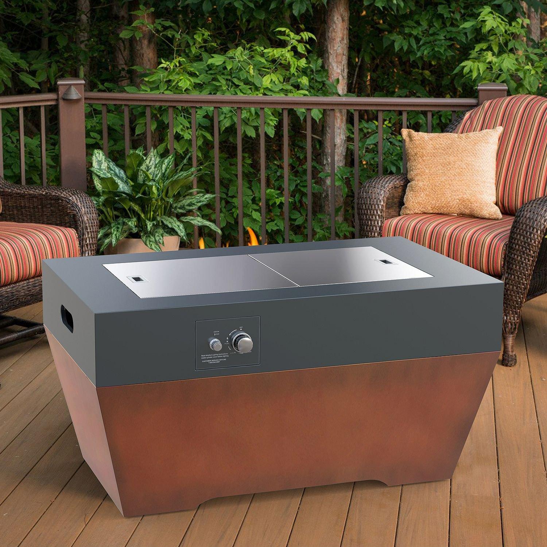 Propane Fire Pit Table   Outdoor Gas Patio Heater 40,000 BTU