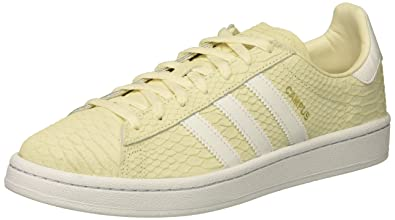 size 40 d8143 e71f7 adidas Originals Women s Campus W, Chalk White White Metallic Gold, 5 Medium