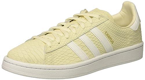 sports shoes cc62f d06bc Adidas Originals Women s Campus W, Chalk White White Metallic Gold, 5.5  Medium