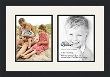 arttoframes double multimat 36 6189 frbw26079 collage photo frame double - Double 8x10 Picture Frame