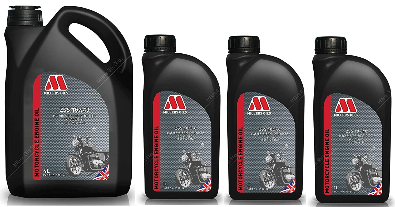 Millers Oils ZSS 4T 10W40 Aceite semisintético para Motor de Motocicleta, 7 litros: Amazon.es: Coche y moto