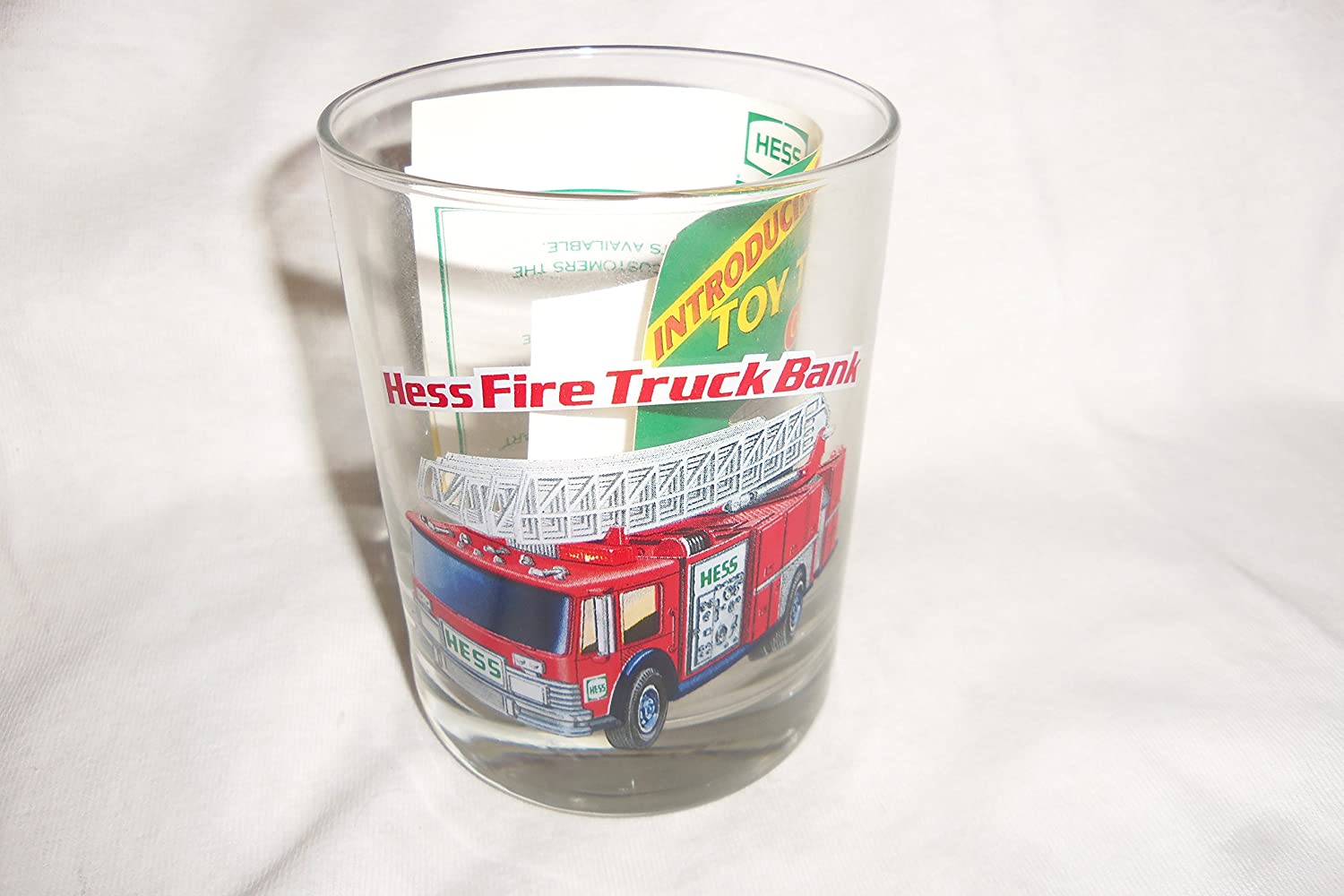Hess 1996 Classic Truck Series Glass 1986 Hess Firetruck Bank Exclusive