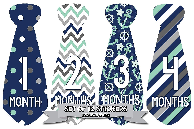 都内で Months in In Motion 702 702 Monthly Baby 1-12 Stickers Necktie Tie Baby Boy Months 1-12 by Months In Motion B00UZ84C88, ミズママチ:637f41e1 --- mvd.ee