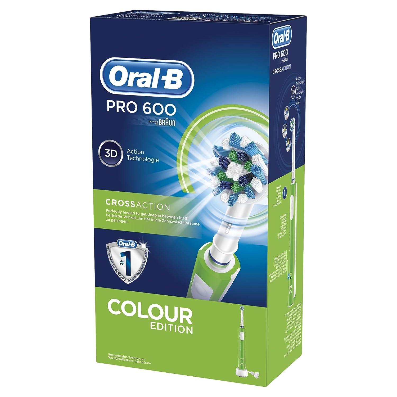 Braun Oral-B Pro 600 spazzolino elettrico 3d-White CrossAction