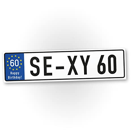 Dankedir Plaque En Plastique Sexy 60 Ans Cadeau 60 Ans