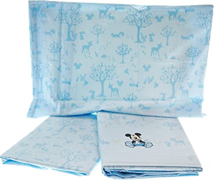 Completo Lenzuola Lettino Azzurro Mickey Mouse Disney Baby By Caleffi Amazon Co Uk Kitchen Home