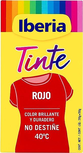 Iberia - Tinte Rojo para ropa, 40°C