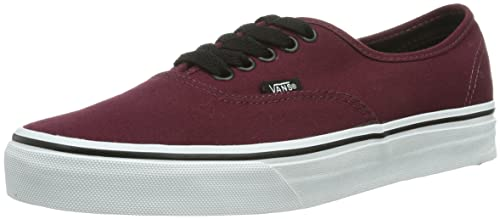 VANS AUTHENTIC SNEAKER UNISEX ADULTO ROSSO PORT ROYALE/BLACK 38 EU