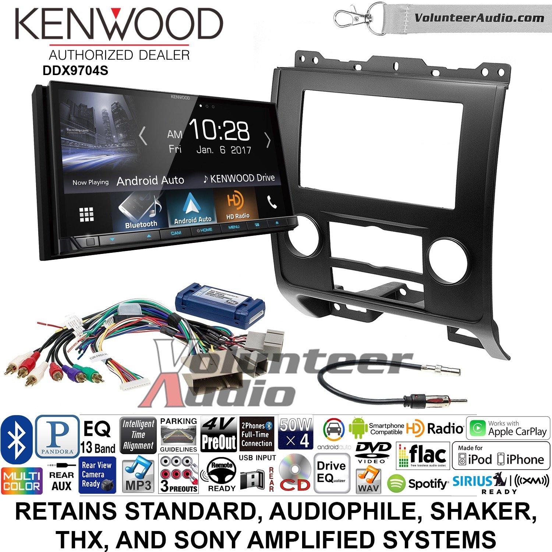 ボランティアオーディオKenwood ddx9704sダブルDINラジオインストールキットwith Apple CarPlay Android自動Fits 2008 – 2012フォードエスケープ、マツダTribute、Mercury Mariner (ブラック) B07BZR7TV1