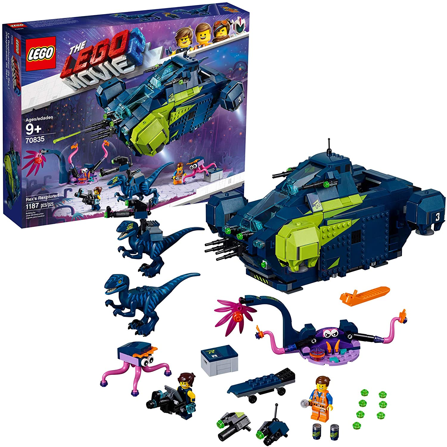 LEGO The Movie 2 Rex's Rexplorer; 70835 Building Kit, Spaceship Toy with Dinosaur Figures (1172 Pieces)