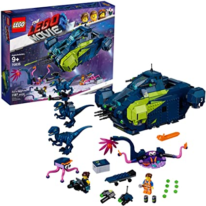 Amazon Com Lego The Lego Movie 2 Rex S Rexplorer 70835 Building Kit Spaceship Toy With Dinosaur Figures 1172 Pieces Toys Games