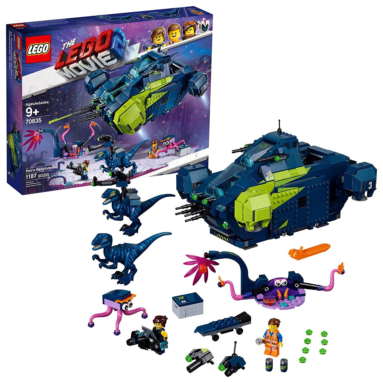 LEGO THE LEGO MOVIE 2 Rex's Rexplorer! 70835 Building Kit, Spaceship Toy with Dinosaur Figures, New 2019 (1172 Pieces)