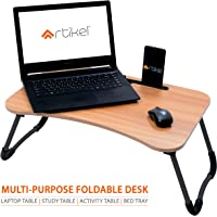 Artikel Multi-Purpose Laptop Table with Dock Stand   Study Table   Bed Table   Foldable and Portable   Ergonomic & Rounded Edges   Non-Slip Legs   Engineered Wood   Ergo Series   Hard Maple Wood