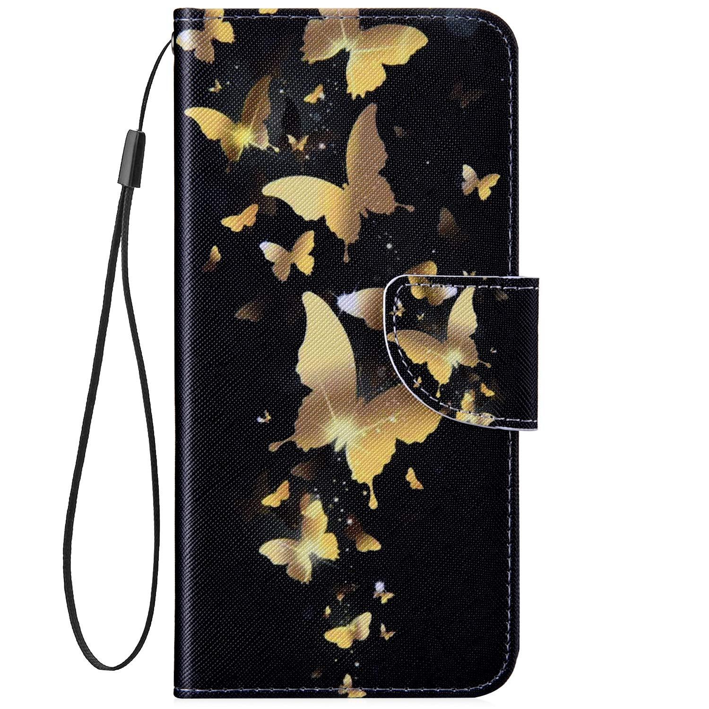 Fleur Blanc Hpory Compatible avec Coque iPhone 7//iPhone 8 Housse Etui en Cuir PU Portefeuille /à Rabat Case Motifs Color/és Magn/étique Housse de Protection avec Fentes de Carte