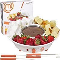 MasterChef Chocolate Fondue Maker- Deluxe Electric Dessert Fountain Fondue Pot Set with 4 Forks & Party Serving Tray