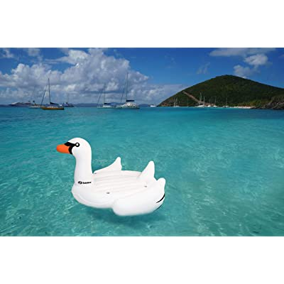 """Solstice Giant 105"""" Inflatable Mega Swan Ride-On Float Raft Island: Sports & Outdoors"""