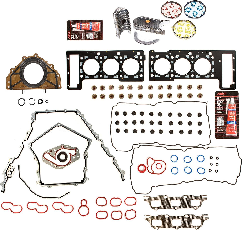 Standard Size Main Rod Bearings Standard Size Piston Rings Evergreen Engine Rering Kit FSBRR8-30101LEVE\0\0\0 Fits 05-09 Dodge Magnum Charger Chrysler Sebring 2.7 Full Gasket Set