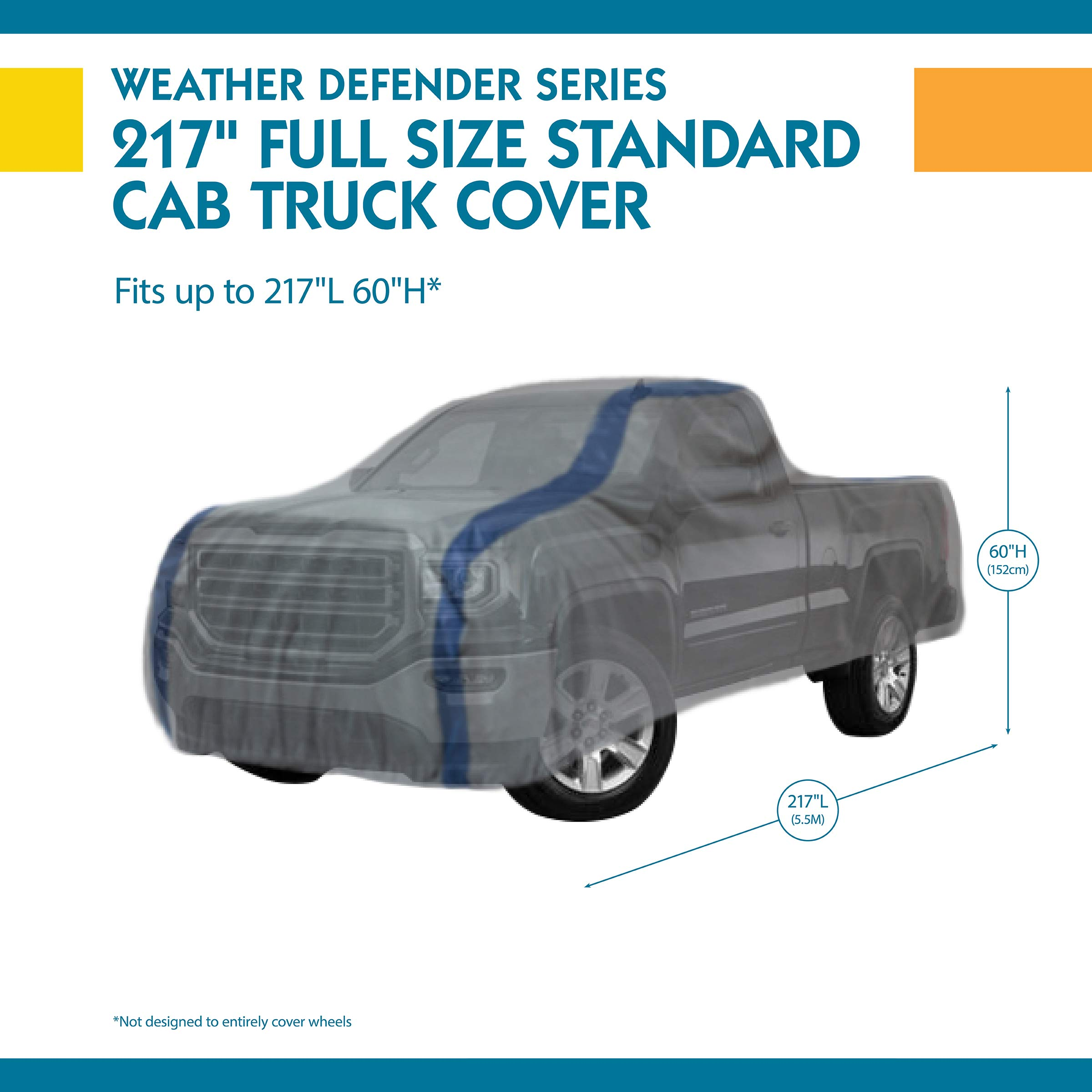 Audew Truck Cover Oxford Fabric Pickup Truck Covers for All Weather Protection-Waterproof Windproof Snowproof UV Resistant with Reflective Strips Fits Up to 246