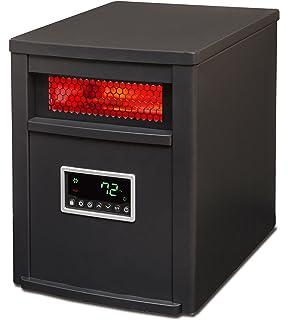 LIFESMART 6 Element Large Room Infrared Quartz Heater with Wood ...