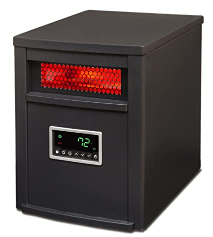 amazon com: lifesmart 6 element w/remote large room infrared heater,  black/gray: home & kitchen