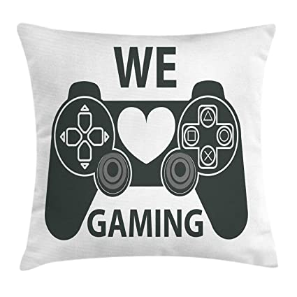 Amazon.com: Lunarable Gamer Throw Pillow Cushion Cover, We ...