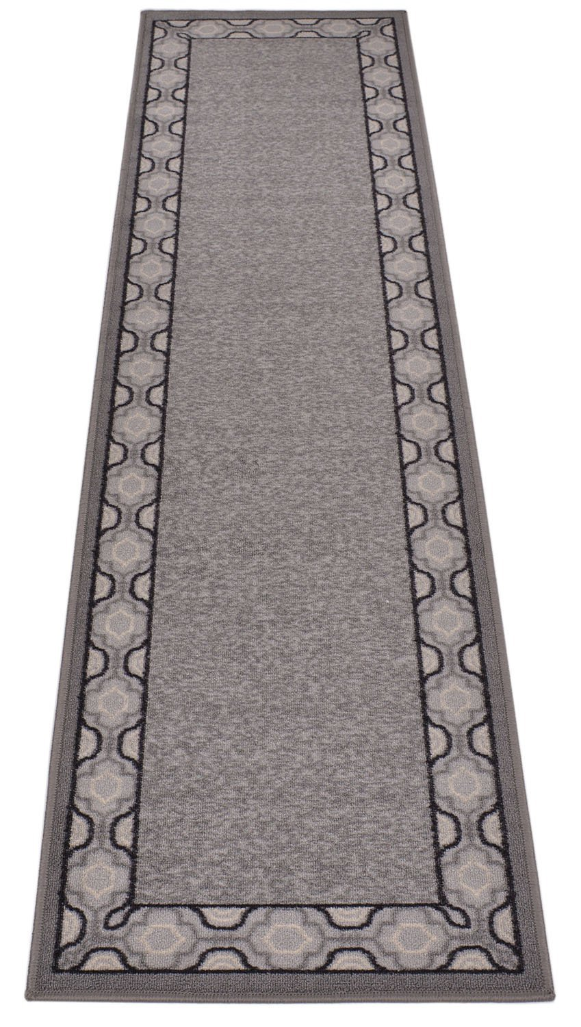 Rug Styles COMIN18JU080432 Beige, 20 x 59 20 x 59 Trellis Border Moroccan Design Printed Slip Resistant Rubber Back Latex Runner Rug and Area Rugs More Color Options Available