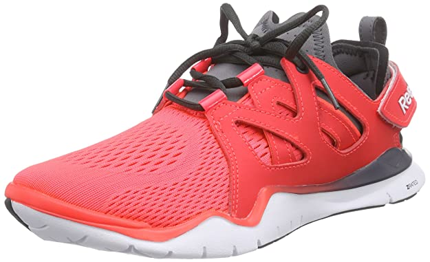 Reebok Zcut TR 2.0, Chaussures de Fitness Femmes - Orange - Orange (Neon Cherry/Shark/Gravel/White), 35