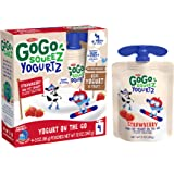 GoGo squeeZ yogurtZ, Strawberry, 3 Ounce (4 Pouches), Low Fat Yogurt, Gluten Free, Pantry-friendly, Recloseable, BPA…