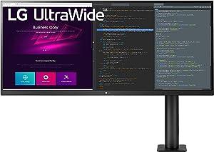 LG 34WN780-B 34 Inch 21:9 UltraWide QHD (3440 x 1440) Display Ergo with 3-Side Virtually Borderless Design and AMD FreeSync - Black