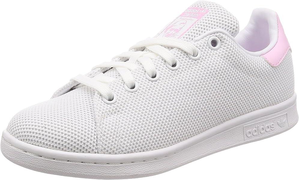 best website cfe8b 993eb adidas Stan Smith W, Chaussures de Fitness Femme, Blanc Ftwbla Rosmar 000,