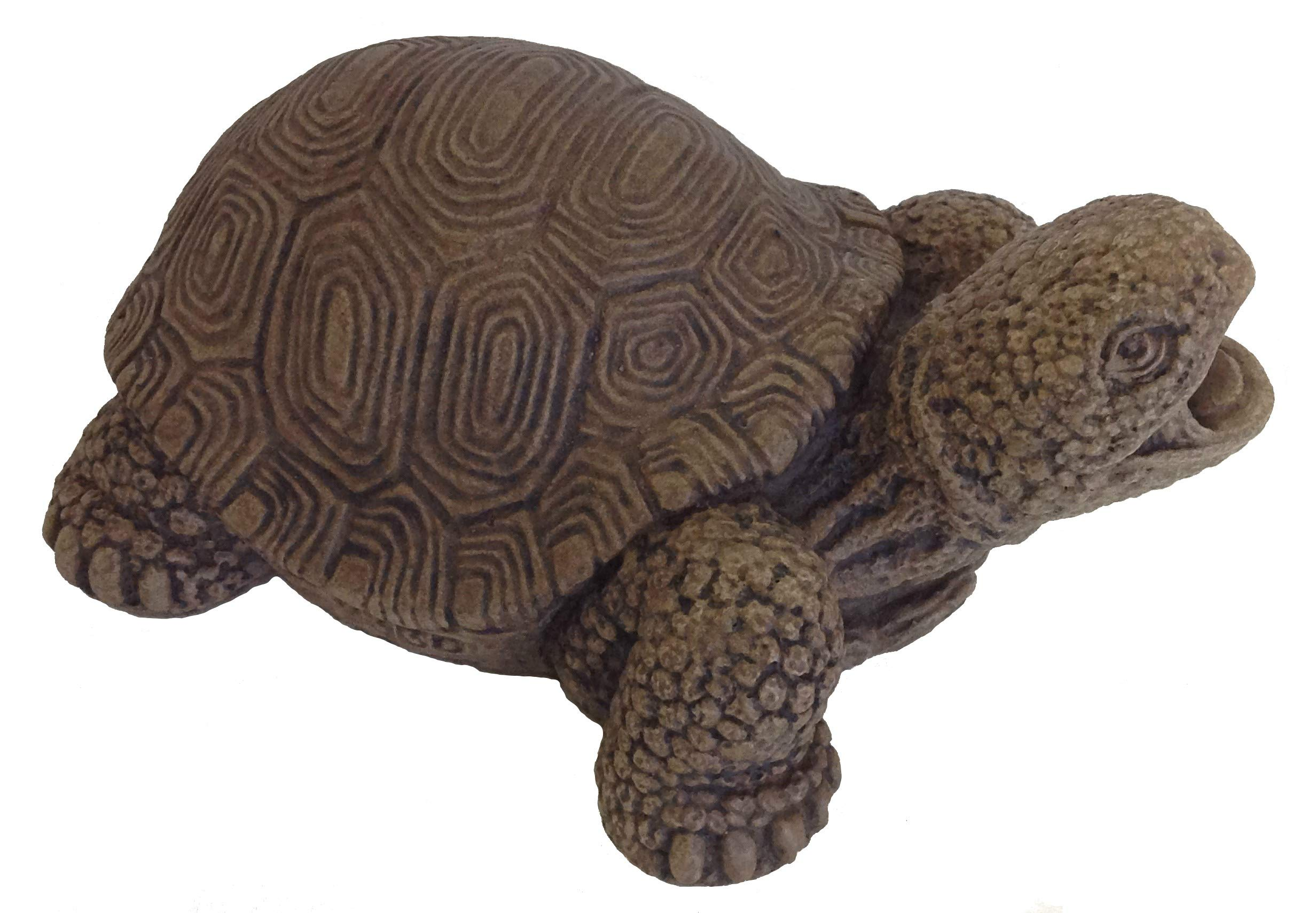 Massarelli's Turtle Plumbed Spitter - Solid Cast Stone Lifelike Sculpture, Great Pond and Garden Gift Idea, Durable and Fun Statue Art
