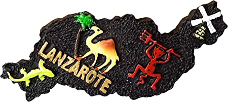 zamonji Lanzarote, Mallorca Imán de Nevera Imanes para Refrigerador 3D Resina Decoración del Hogar y la Cocina Regalo de Recuerdo de Viaje Souvenir de España: Amazon.es: Hogar
