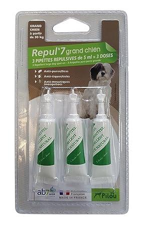 PILOU pipetas répulsives para Perro Grande X3 pipetas de 5 ML para Perro: Amazon.es: Productos para mascotas