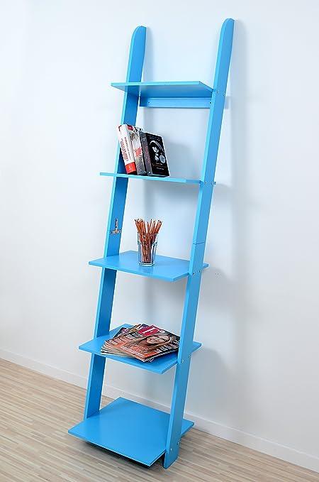 Estanteria Diseño Negro Moderno Estilo Elegante Armario Pared Libros Maciza LK181 (Azul): Amazon.es: Hogar