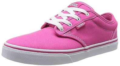 vans shoes for girls pink. vans atwood, girls\u0027 skateboarding shoes, pink ((canvas) magenta/white shoes for girls