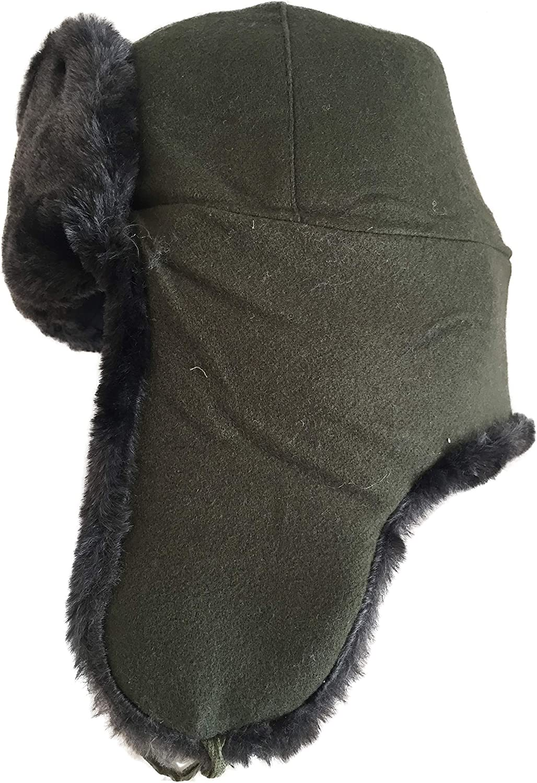 Ganwear/® Russian Soldiers Soviet Military Style Army Cossack Grey Ushanka Hat USSR Badge