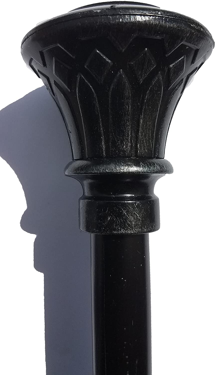 Mk Home Collection Window Treatment Curtain Rod Relic New 28-48, Black//Copper