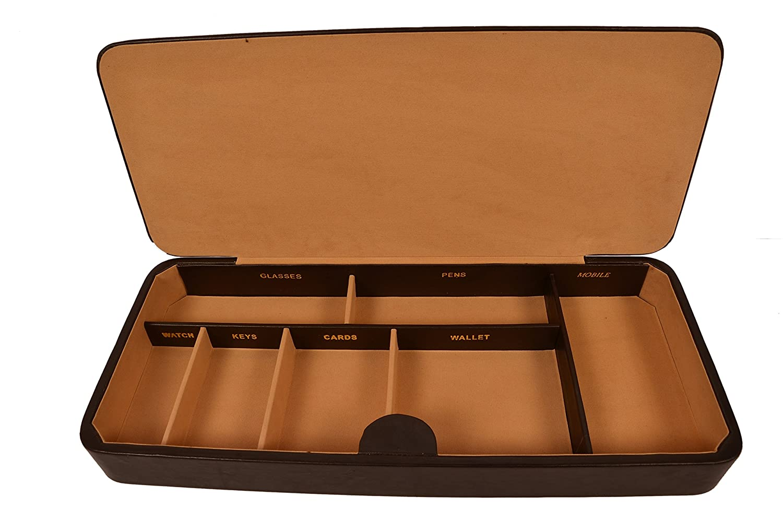Zint Men Pure in pelle marrone di grandi dimensioni svuotatasche//Office organizer
