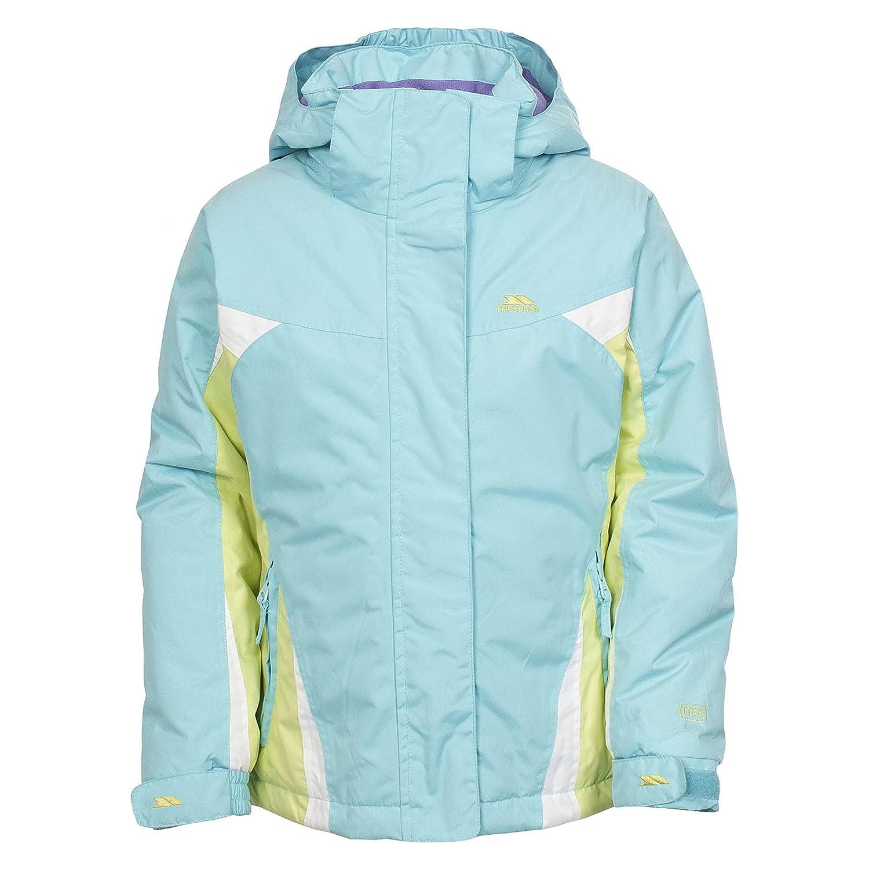 Trespass Childrens Girls Jodilynn Zip Up Hooded Waterproof Ski Jacket
