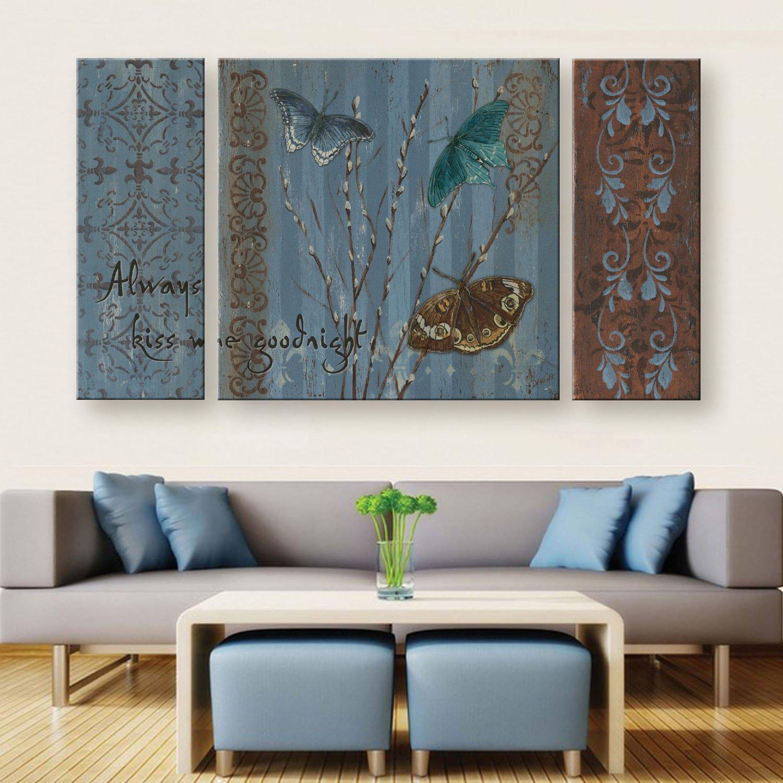GaoRuiRuiL Schmetterling Retro Muster Dekoration Malerei, rahmenlose Gemälde, Wohnzimmer Malerei Malerei Malerei Dekoration Malerei cf41b3